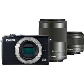 Canon EOS M100 (24.2 MP, EF-M 15-45 mm IS STM + EF-M 55-200 mm IS STM Dual Kit Lens) Mirrorless Camera