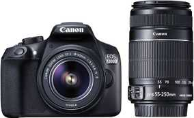 Canon EOS 1300D (18.0 MP, EF-S 18-55 mm IS II Lens + EF-S 55-250 mm IS II Dual Kit Lens) DSLR Camera