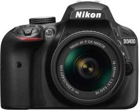 Nikon D3400 (24.2 MP, AF-P DX NIKKOR 18-55 mm f/3.5-5.6G VR Kit Lens) DSLR Camera