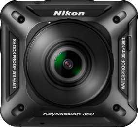 Nikon KeyMission 360 (23.9 MP, UHD 4K) Waterproof & Dust resistant Digital Sports & Action Camera (Black)