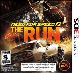Need For Speed (NFS): The Run - NTSC Version (Nintendo 3DS)