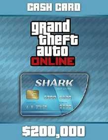 Grand Theft Auto V (GTA 5/GTA V) Online Tiger Shark Cash Card - 200,000$  with Expansion Pack Only (PC)