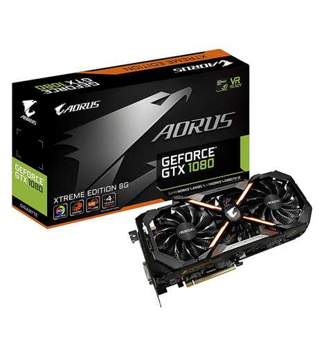 GIGABYTE Aorus GeForce GTX 1080 8 GB GDDR5X PCI Express 3.0 Xtreme Edition Graphic Card
