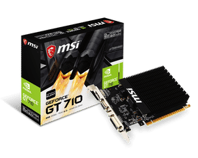 MSI GeForce GT 710 2 GB DDR3 PCI Express 2.0 Graphic Card