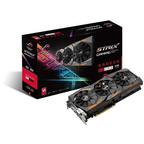 ASUS ROG Strix Radeon RX 480 8 GB GDDR5 PCI Express 3.0 OC Edition with Aura Sync Gaming Graphic Card