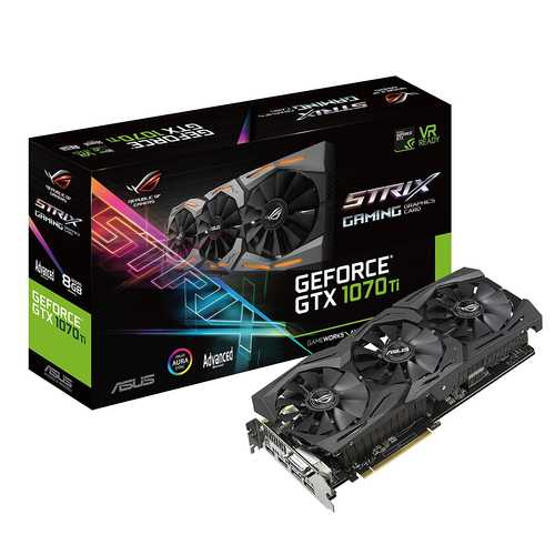 ASUS ROG Strix GeForce GTX 1070 Ti A8 GB GDDR5 PCI Express 3.0 with Aura Sync RGB Gaming Graphic Card