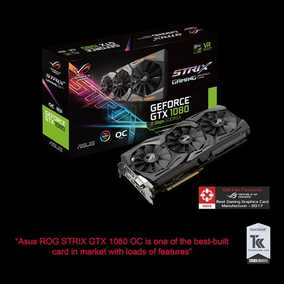 ASUS ROG Strix GeForce GTX 1080 8 GB GDDR5X PCI Express 3.0 OC Edition with Aura Sync Graphic Card