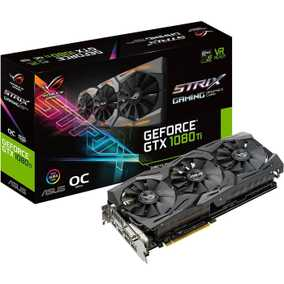 ASUS ROG Strix Geforce GTX 1080 Ti 11 GB GDDR5X PCI Express 3.0 OC Edition with Aura Sync RGB Graphic Card