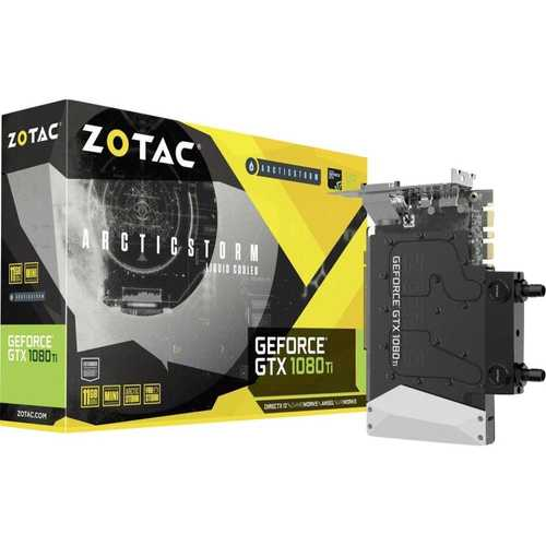 Zotac Geforce GTX 1080 Ti 11 GB GDDR5X PCI Express 3.0 ArcticStorm Graphics Card