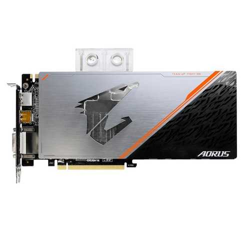 GIGABYTE Aorus Geforce GTX 1080 Ti 11 GB GDDR5X PCI Express 3.0 Waterforce WB Xtreme Edition Graphic Card