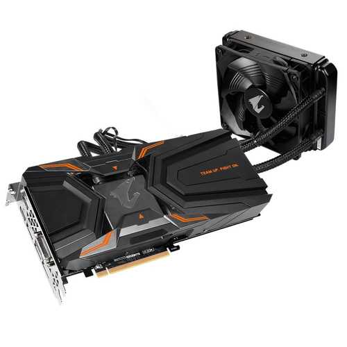 GIGABYTE Aorus Geforce GTX 1080 Ti 11 GB GDDR5X PCI Express 3.0 Waterforce Xtreme Edition Graphic Card