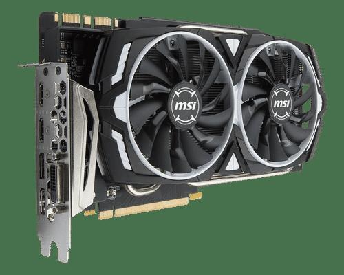 MSI Geforce GTX 1080 Ti 11 GB GDDR5X PCI Express 3.0 Armor OC Edition Graphic Card