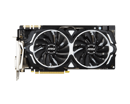 MSI GeForce GTX 1080 8 GB GDDR5X PCI Express 3.0 Armor OC Edition Graphic Card