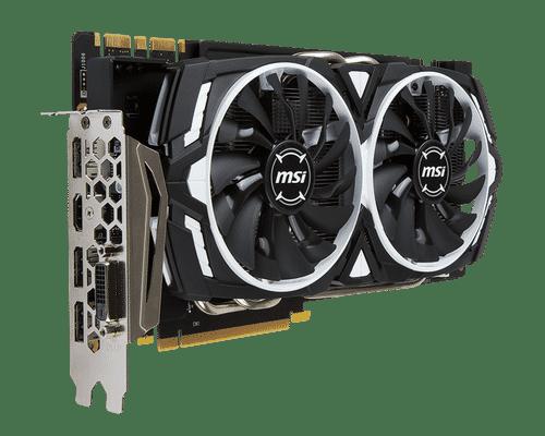 MSI GeForce GTX 1070 8 GB GDDR5 PCI Express 3.0 Armor OC Edition Graphic Card
