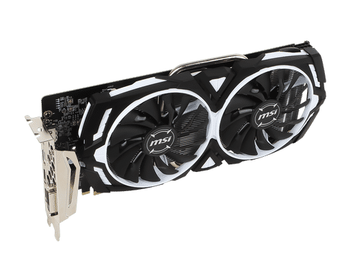 MSI GeForce GTX 1060 6 GB GDDR5 PCI Express 3.0 Armor V1 Graphic Card