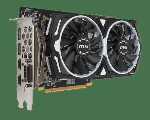 MSI Radeon RX 480 8 GB GDDR5 PCI Express 3.0 Armor OC Edition Graphic Card