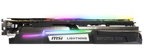 MSI Geforce GTX 1080 Ti 11 GB GDDR5X PCI Express 3.0 Lightning Z Graphic Card