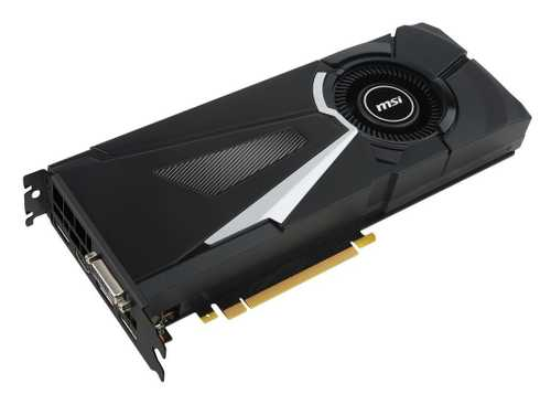 MSI GeForce GTX 1080 8 GB GDDR5X PCI Express 3.0 Aero OC Edition Graphic Card