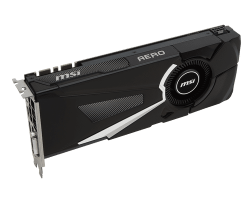 MSI GeForce GTX 1080 8 GB GDDR5X PCI Express 3.0 Aero Graphic Card