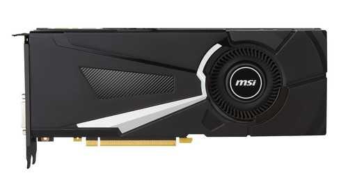 MSI GeForce GTX 1070 8 GB GDDR5 PCI Express 3.0 Aero ITX OC Edition Graphic Card