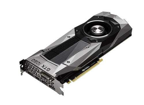MSI GeForce GTX 1080 8 GB GDDR5X PCI Express 3.0 Founders Edition Graphic Card