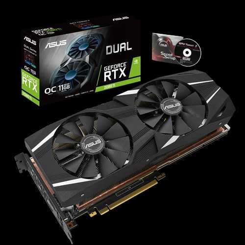 ASUS Dual GeForce RTX 2080 Ti 11 GB GDDR6 PCI Express 3.0 OC Edition with High Performance Cooling Graphic Card