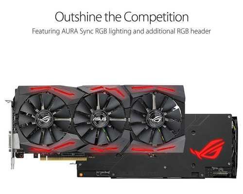ASUS ROG Strix Radeon RX 580 8 GB GDDR5 PCI Express 3.0 with Aura Sync RGB Gaming Graphic Card