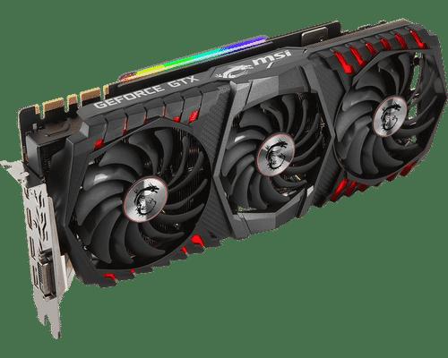 MSI Geforce GTX 1080 Ti 11 GB GDDR5X PCI Express 3.0 Gaming Trio Graphic Card