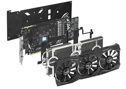 ASUS ROG Strix GeForce GTX 1080 8 GB GDDR5X PCI Express 3.0 OC Edition with Aura Sync Graphic Card