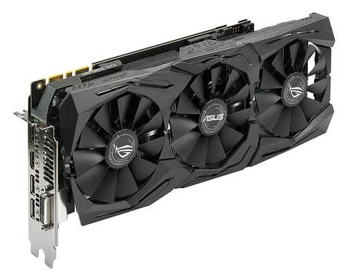 ASUS ROG Strix GeForce GTX 1080 8 GB GDDR5X PCI Express 3.0 Advance Edition with Aura Sync Graphic Card