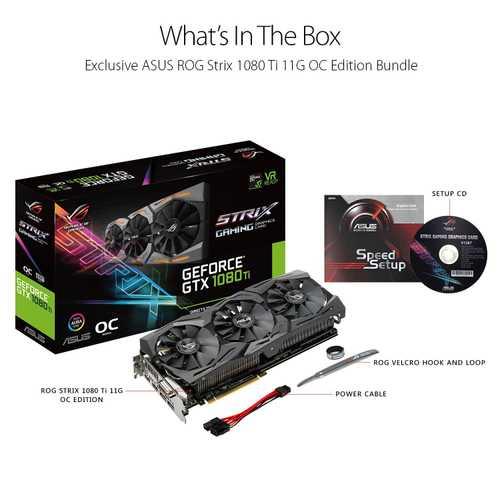 ASUS ROG Strix Geforce GTX 1080 Ti 11 GB GDDR5X PCI Express 3.0 OC Edition with Aura Sync RGB Graphic Card