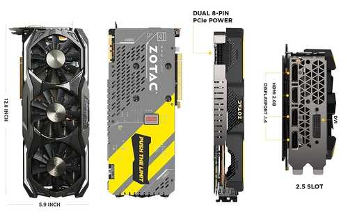 Zotac GeForce GTX 1070 Ti 8 GB GDDR5 PCI Express 3.0 AMP Extreme Graphic Card