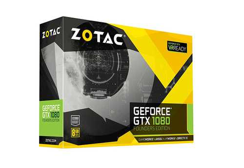 Zotac GeForce GTX 1080 8 GB GDDR5X PCI Express 3.0 Founders Edition Graphic Card