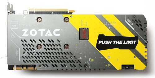 Zotac GeForce GTX 1080 8 GB GDDR5X PCI Express 3.0 AMP extreme Graphic Card