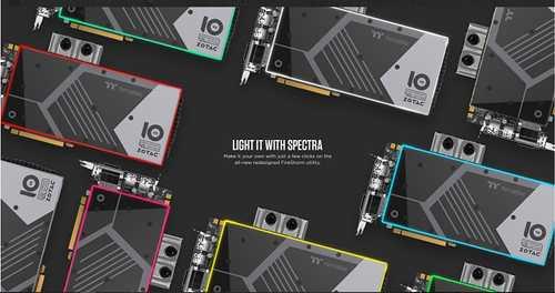Zotac GeForce GTX 1080 8 GB GDDR5X PCI Express 3.0 ArcticStorm Thermaltake 10 Year Anniversary Edition Graphic Card
