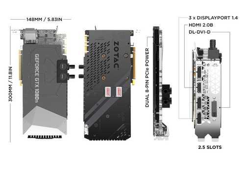 Zotac Geforce GTX 1080 Ti 11 GB GDDR5X PCI Express 3.0 ArcticStorm Graphic Card