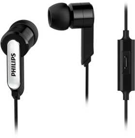 Philips SHE1405BK/94 Wired with Mic Water Resistant Headset (In-Ear)