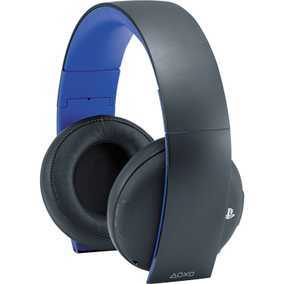 Sony PlayStation Gold Stereo Wired & Wireless (Combo) Bluetooth with Mic Gaming Headset (Over-Ear)