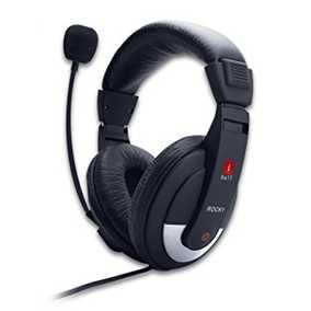 iBall Rocky Clarity Wired with Mic Headset (Over-Ear)