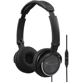 JVC HASR500B High Quality Wired with Mic with Remote Headphone (Over-Ear)