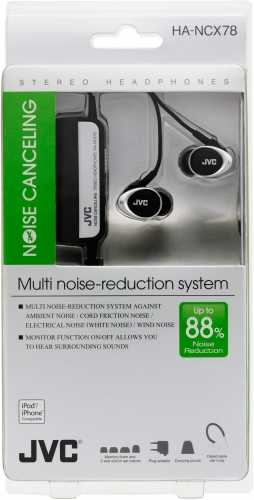 JVC HANCX78 Noise Cancelling Wired without Mic Headphone (In-Ear)