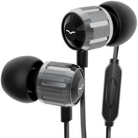 V-MODA Bass Freq Metal Noise-Isolating Wired with Mic with 1-Button Remote Headphone (In-Ear)
