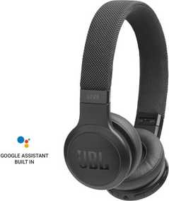 JBL JBLLIVE400BTBLU LIVE 400BT Wired & Wireless (Combo) Bluetooth with Mic Ambient Noise Reduction Headphones (On-Ear)