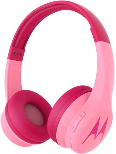 Motorola Squads 300 Wired & Wireless (Combo) Bluetooth with Mic For Kids Headphones (On-Ear) with Anti-Allergic Cushion Pads