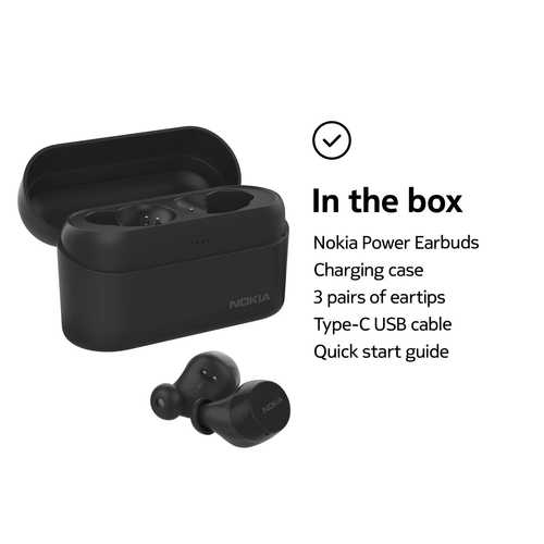 Nokia BH-605 Power True Wireless Bluetooth with Mic Water Proof Earbuds (in-Ear)