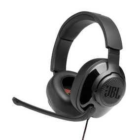 JBL JBLQUANTUM300BLK Quantum 300 Wired with Mic Gaming Headset (Over-Ear)