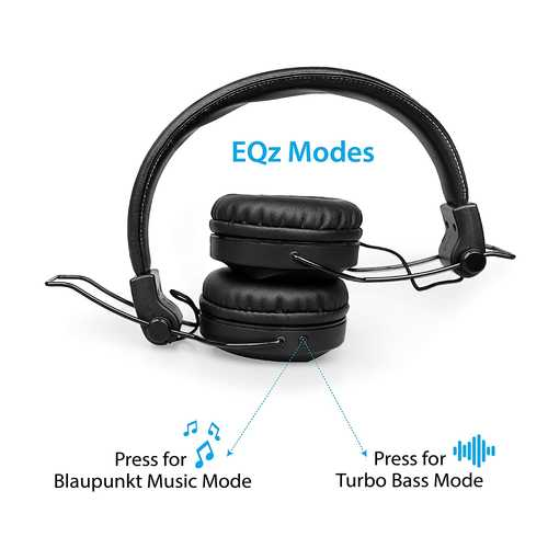 Blaupunkt BH01 Foldable Wired & Wireless (Combo) Bluetooth with Mic Sport Headphones (On-Ear)