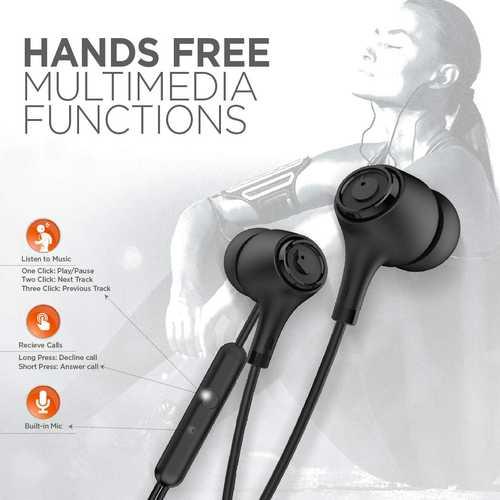 Blaupunkt EM01 Wired with Mic Sport Earphones (in-Ear)