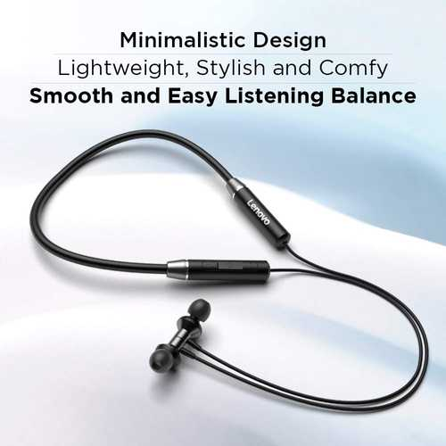 Lenovo HE15 Wireless Bluetooth with Mic Water Resistant Headset (in-Ear)