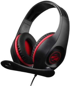 Zebronics Zeb-Grace Adjustable Wired with Mic Headphones (Over-Ear)